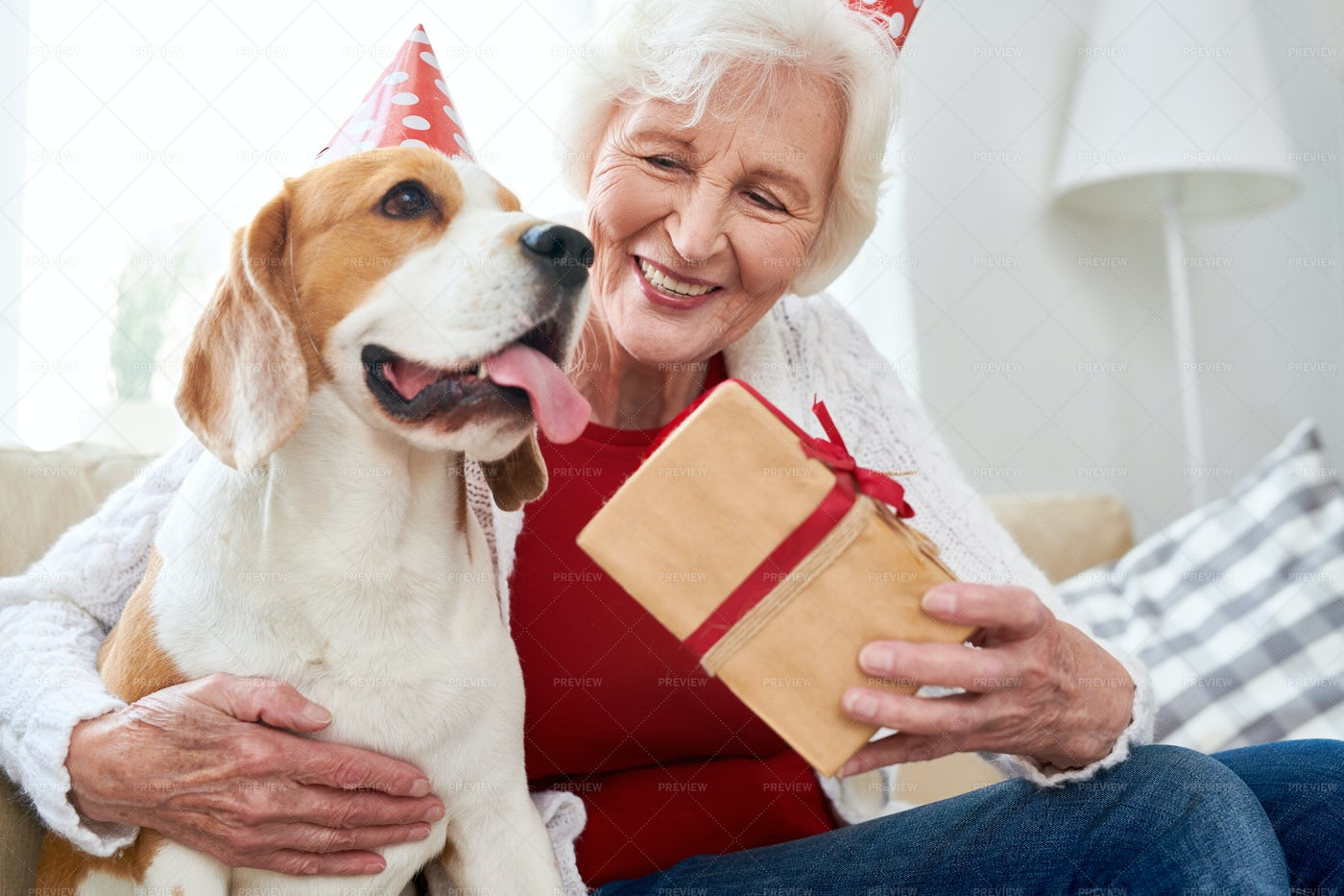 Happy Senior Woman Celebrating...: Stock Photos
