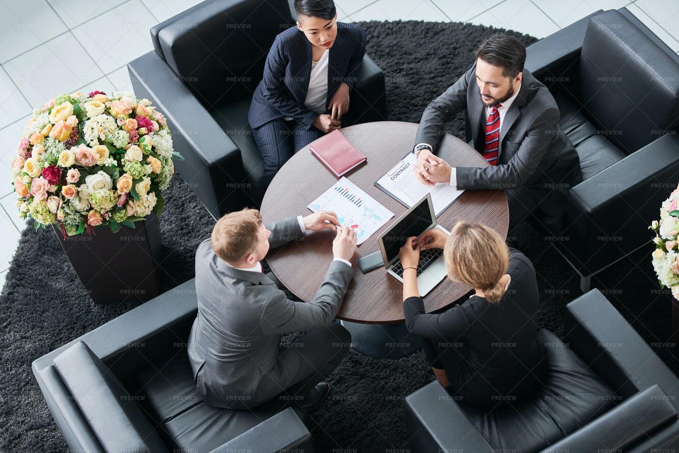 Teamwork At Office: Stock Photos