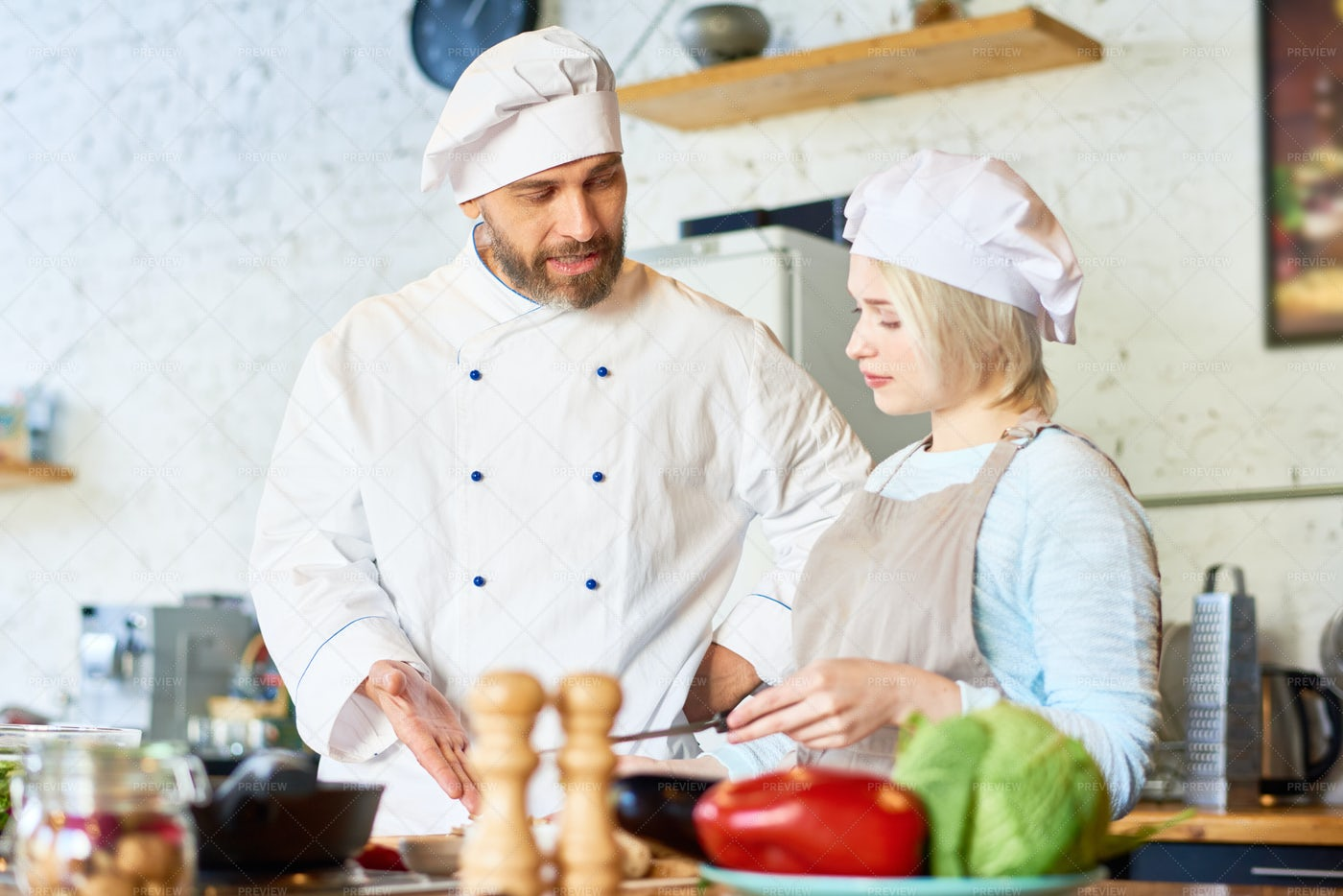 Teaching Cooking: Stock Photos