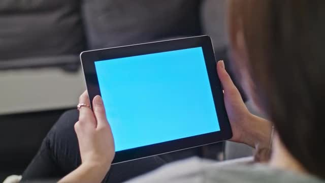 Girl Using A Tablet: Stock Video