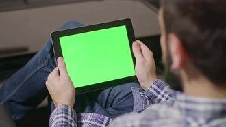Green Screen Tablet: Stock Video