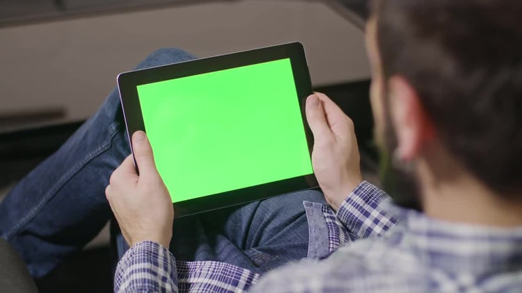 Green Screen Tablet: Stock Video