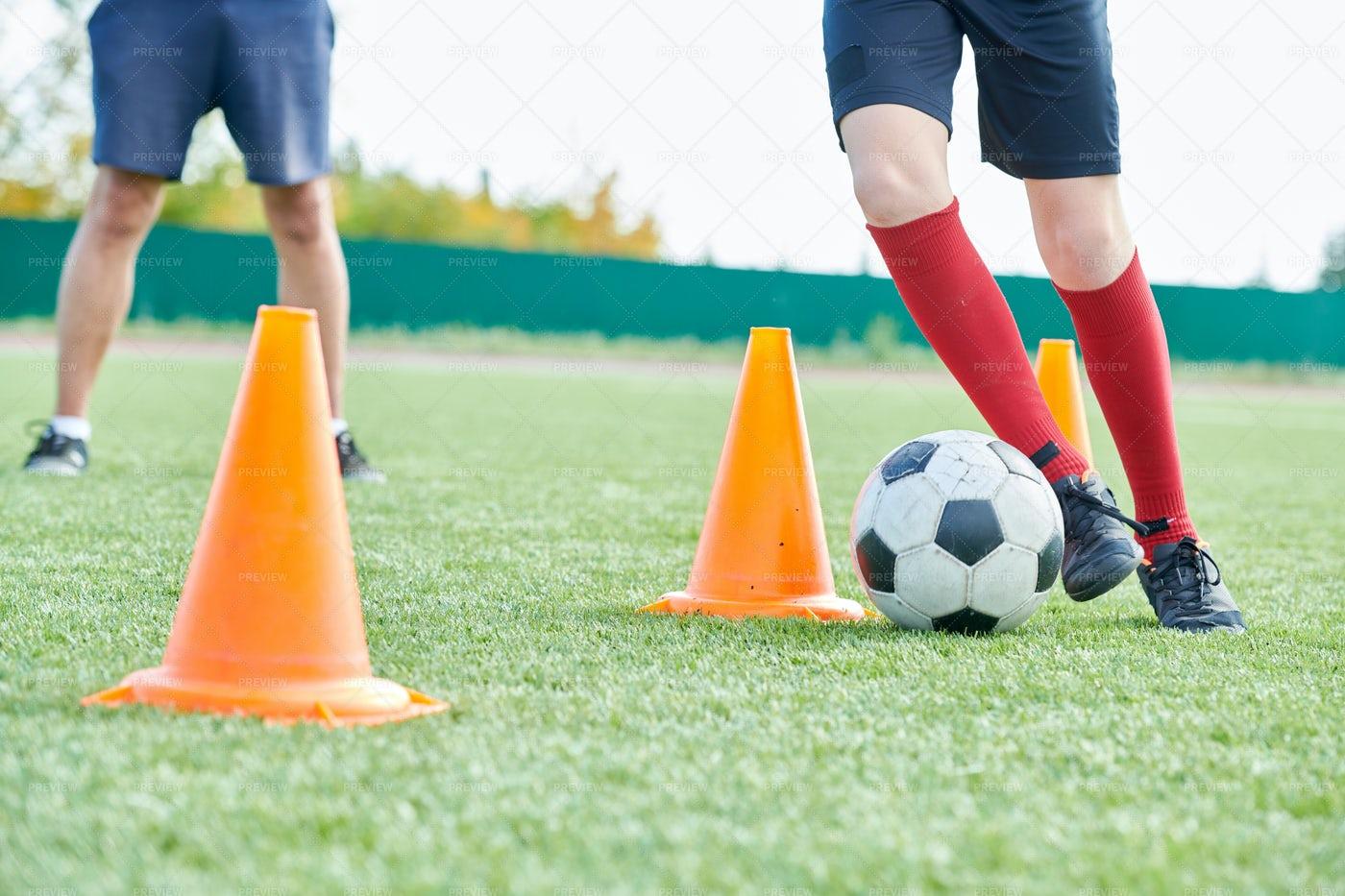 Boy In Football Practice: Stock Photos