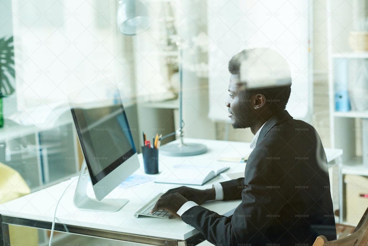 Successful African Businessman...: Stock Photos