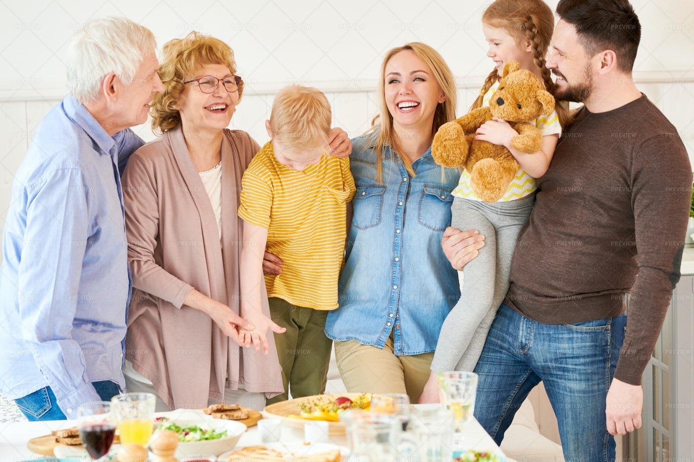 Two Generation Family Posing: Stock Photos
