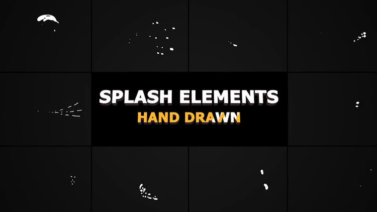 Splash Animated Elements: Stock Motion Graphics