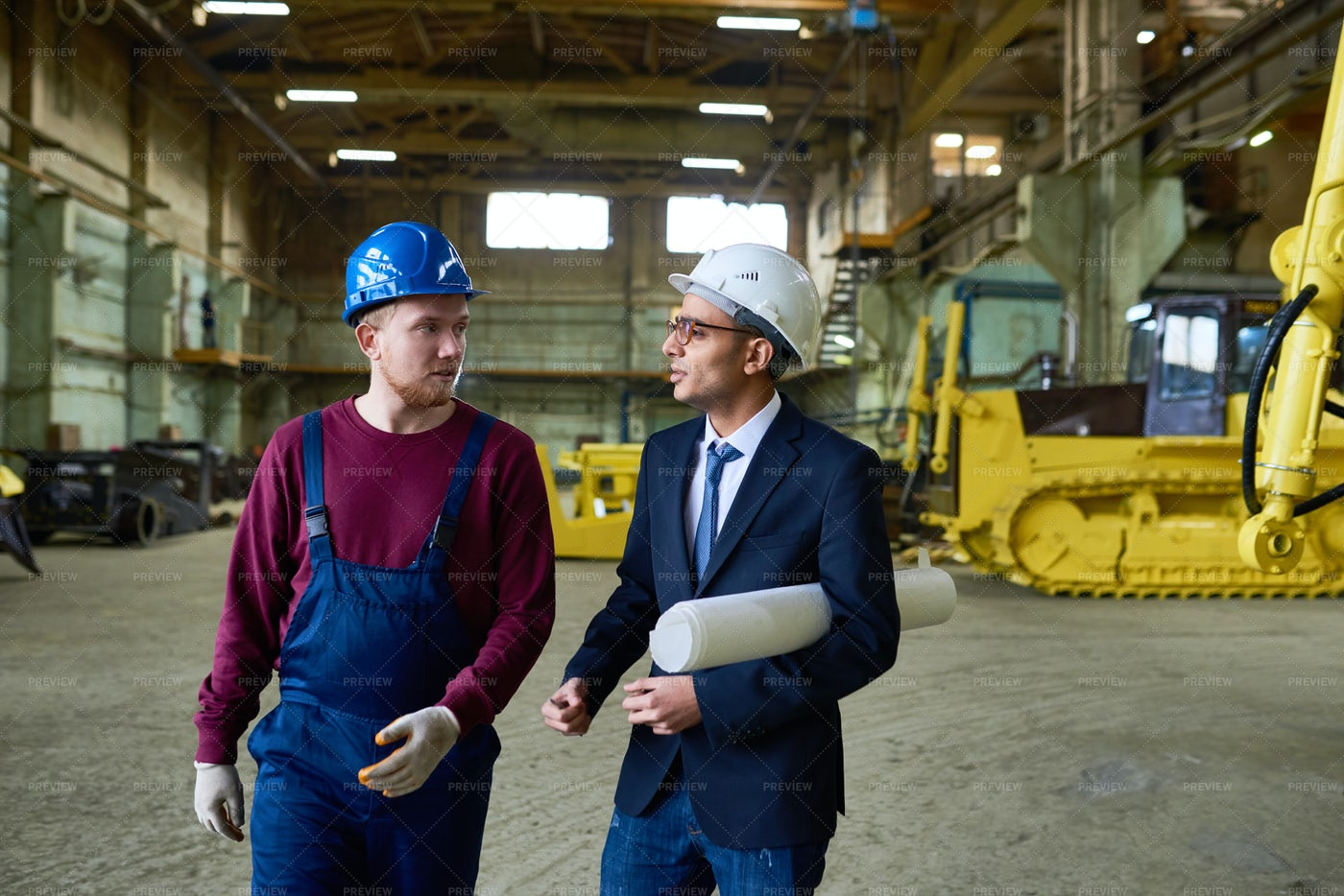 Discussing Project With Factory...: Stock Photos