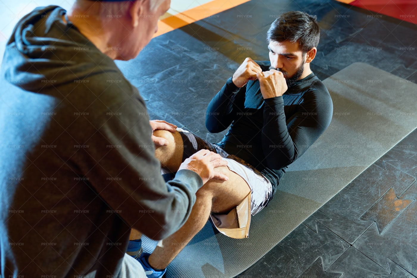 Boxer Training In Gym: Stock Photos
