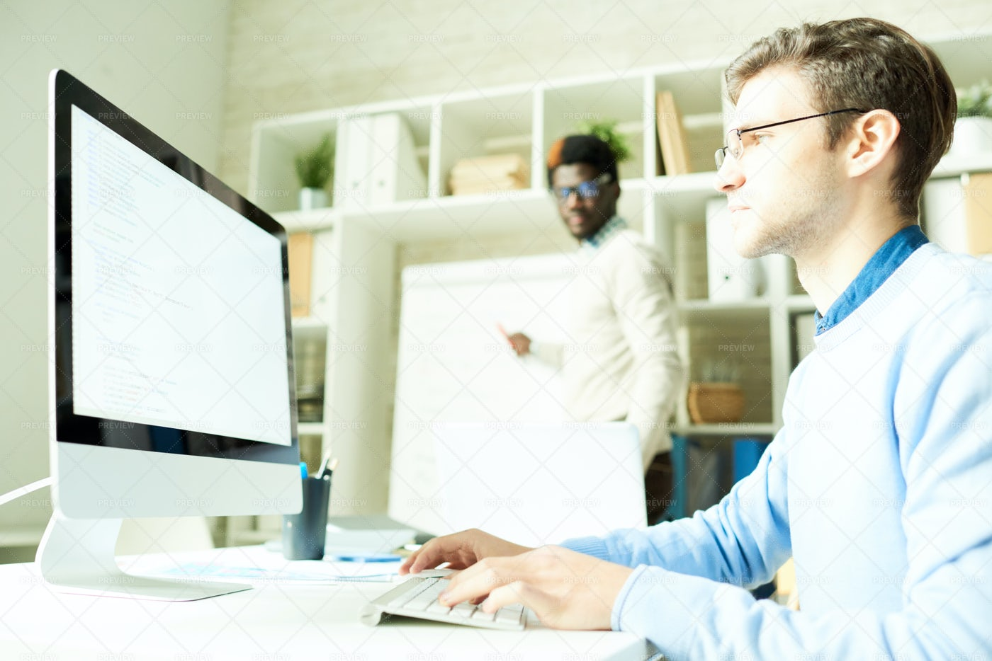 IT Specialists In Web Studio: Stock Photos