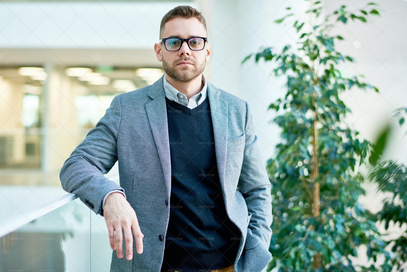 Modern Businessman Wearing Glasses: Stock Photos