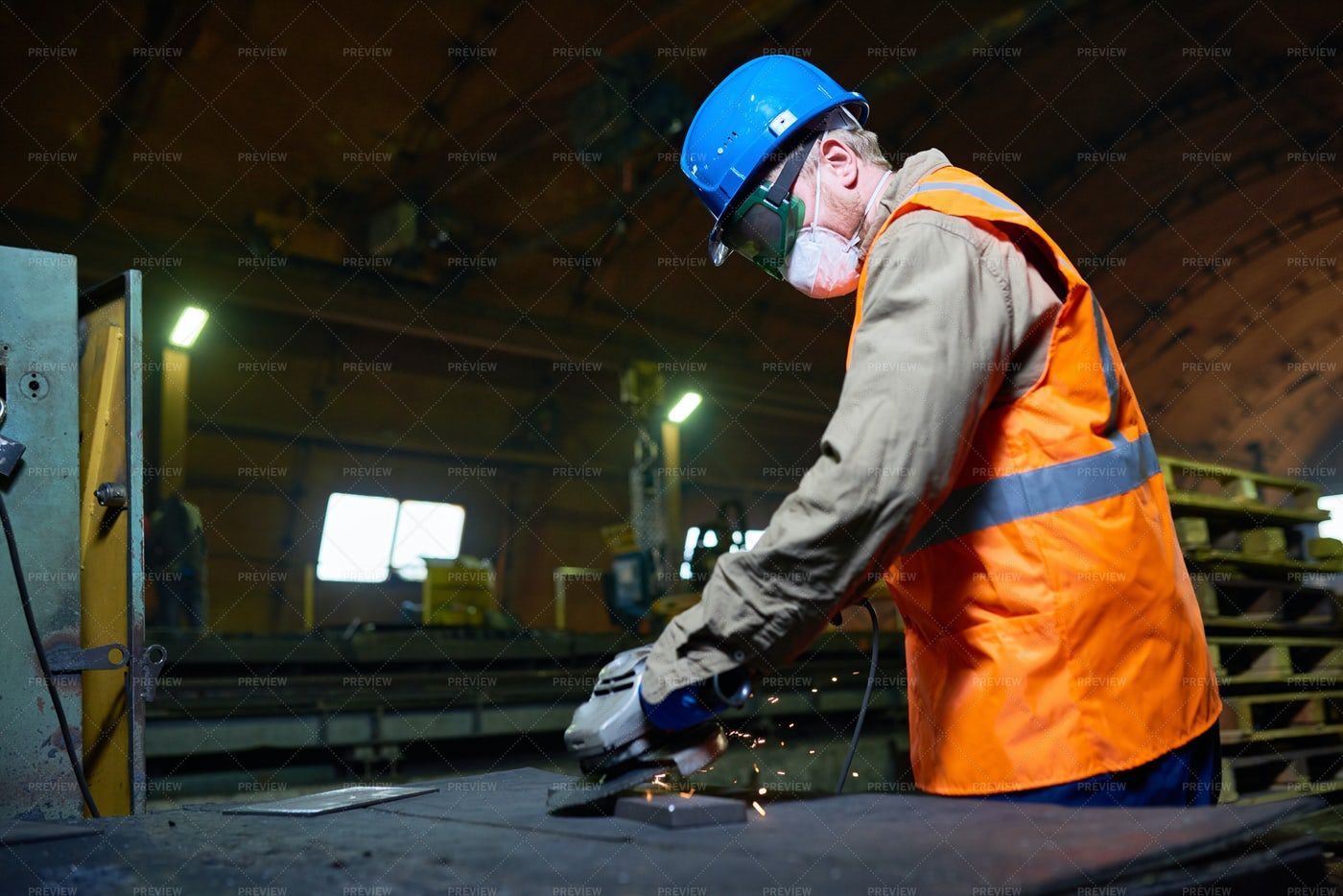 Highly Professional Worker Using...: Stock Photos