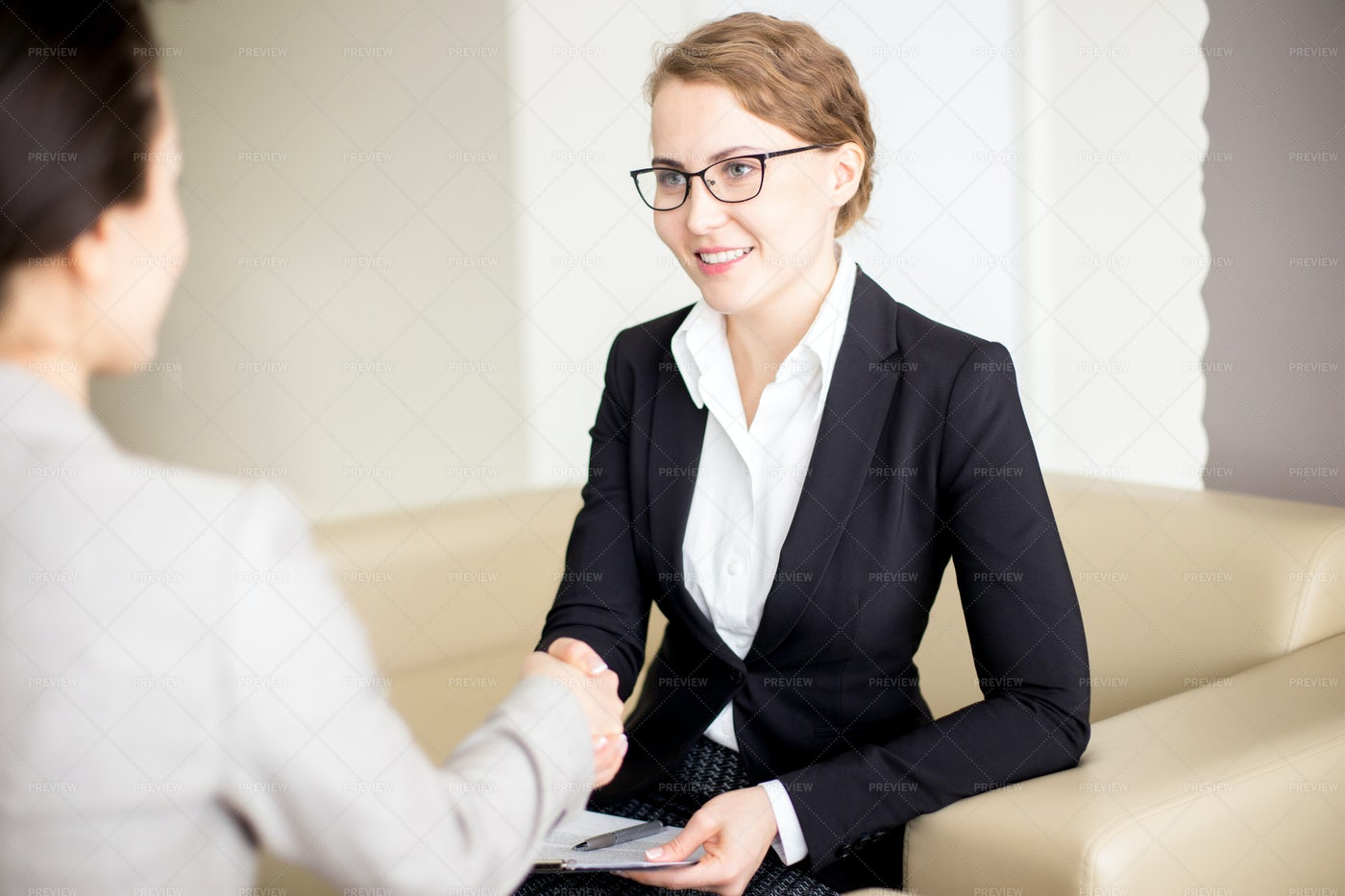 Shaking Hands With Business Partner: Stock Photos