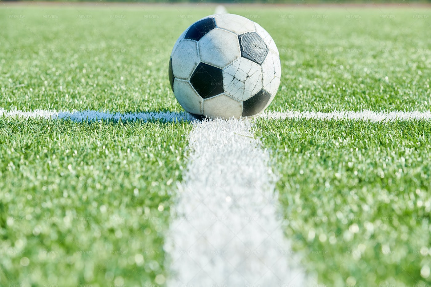 Football Ball Closeup: Stock Photos