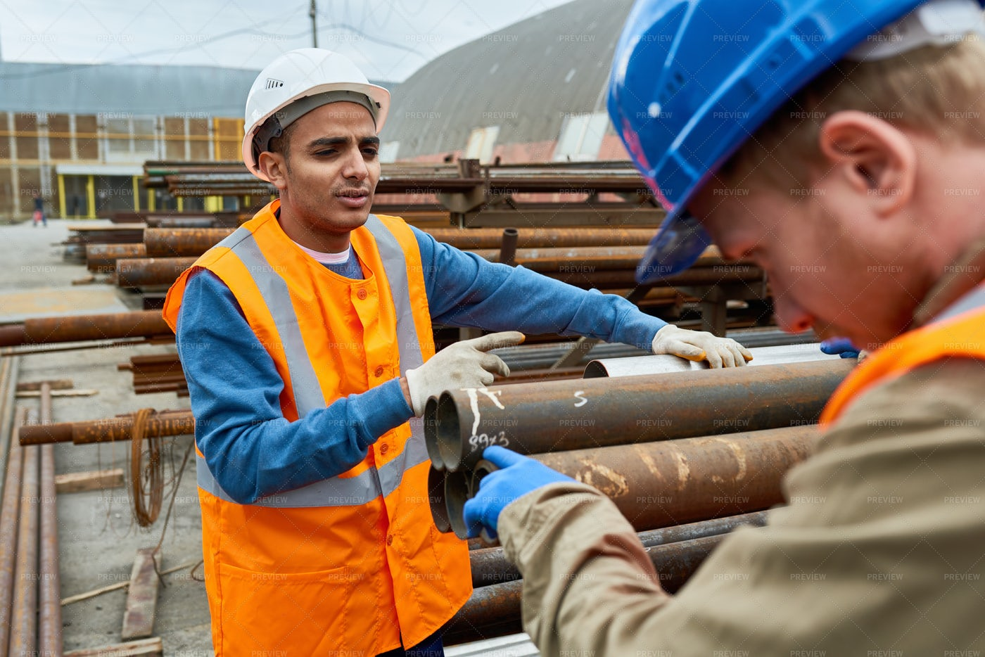 Construction Workers At Work: Stock Photos