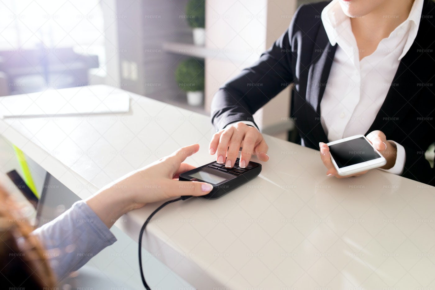 Paying With NFC Technology: Stock Photos