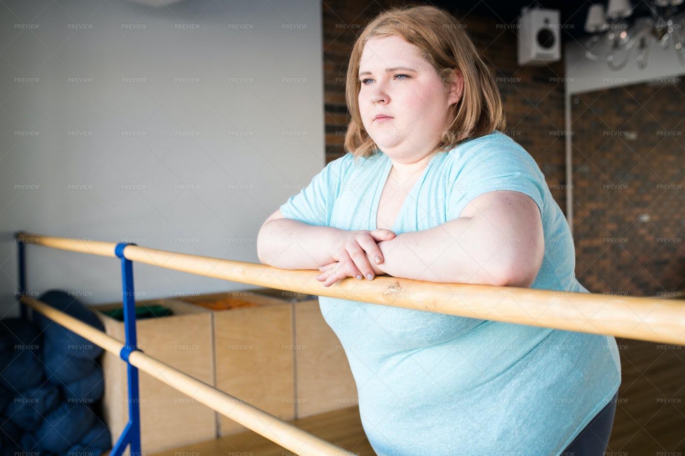 Obese  Ballerina: Stock Photos
