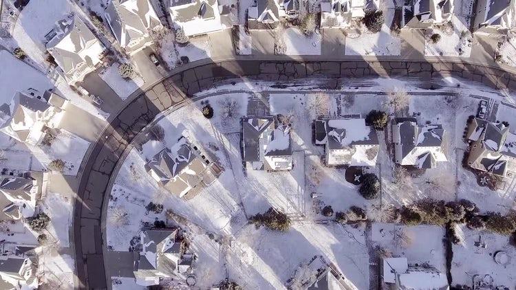 Snowy Neighborhood: Stock Video