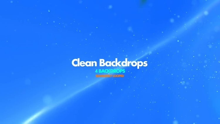 Clean Backdrops Pack: Stock Motion Graphics