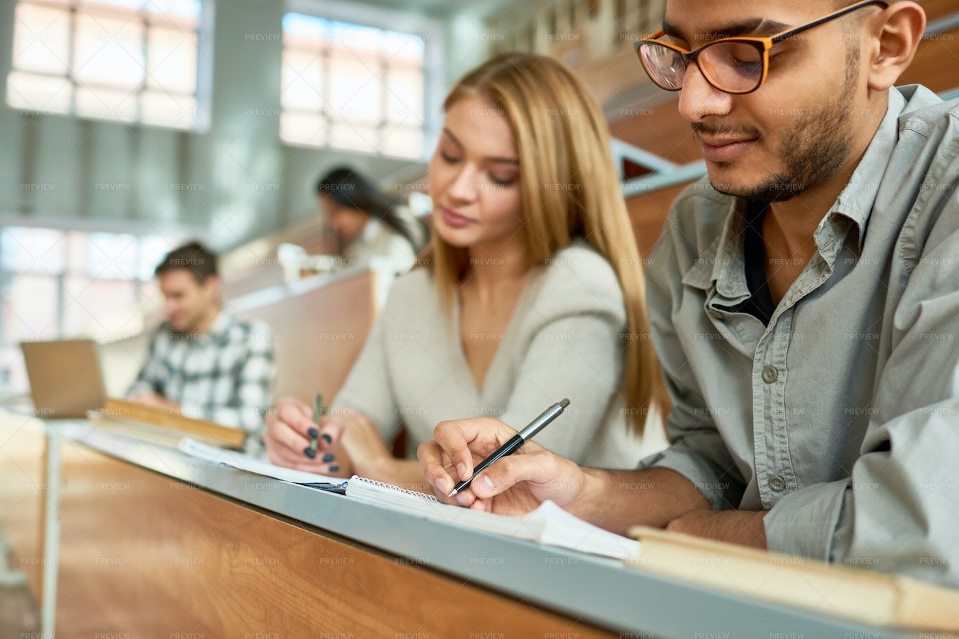 Students At Lecture In University: Stock Photos