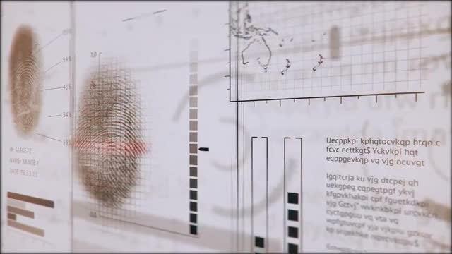 3D Fingerprints Interface: Stock Motion Graphics