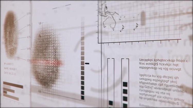 3D Fingerprints Interface: Motion Graphics