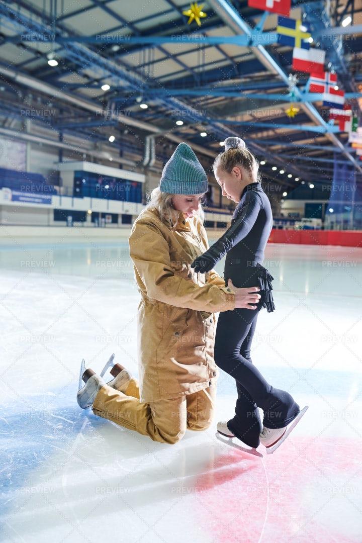 Girl In Figure-Skating School: Stock Photos