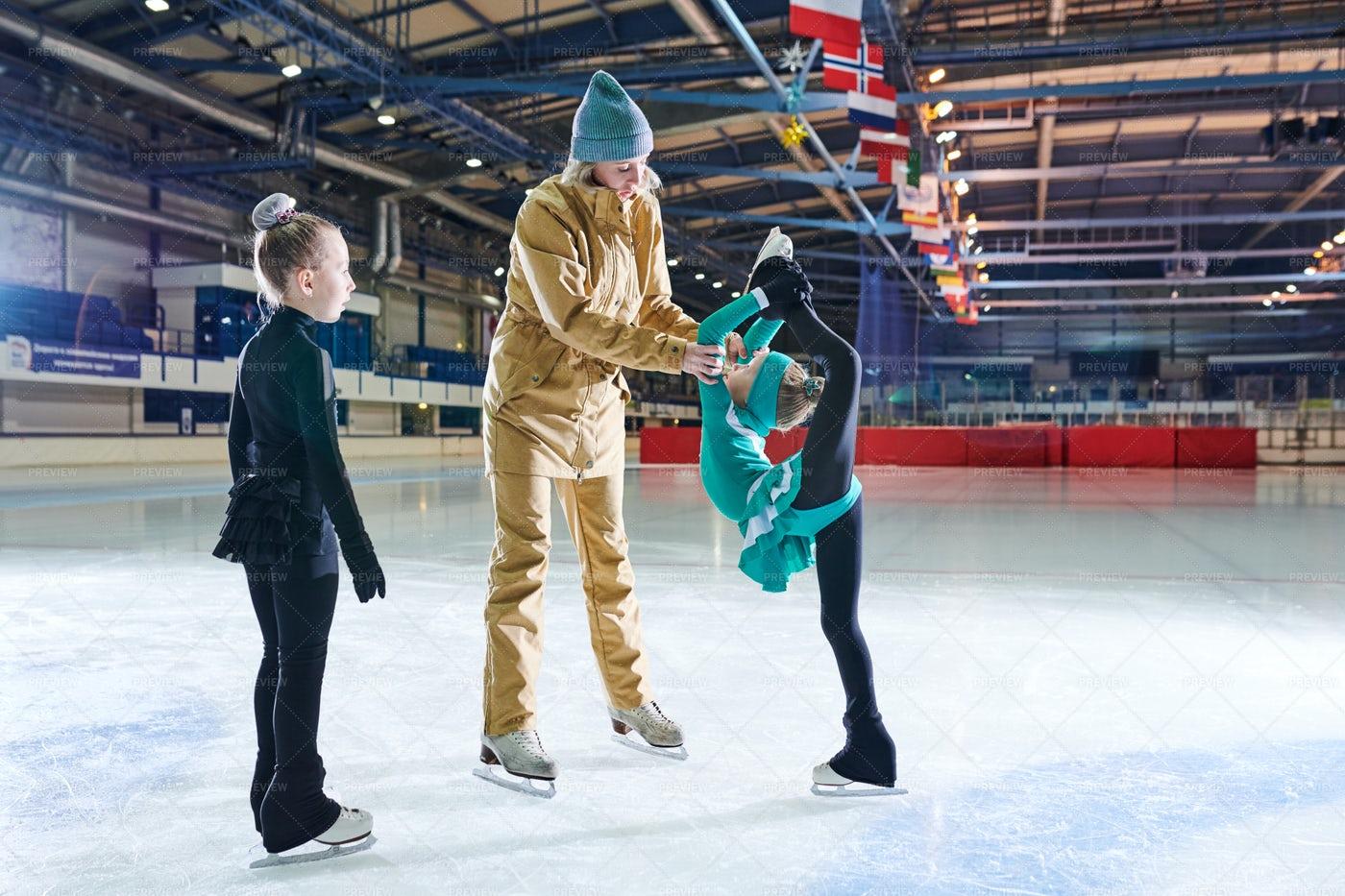 Training In Figure Skating: Stock Photos