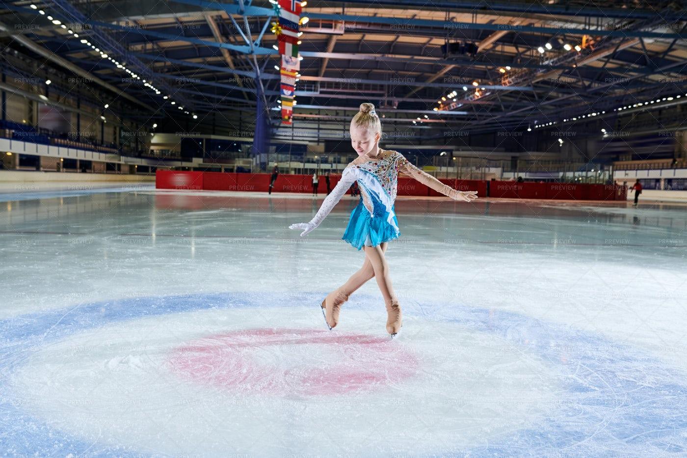 Talented Little Figure-Skater: Stock Photos
