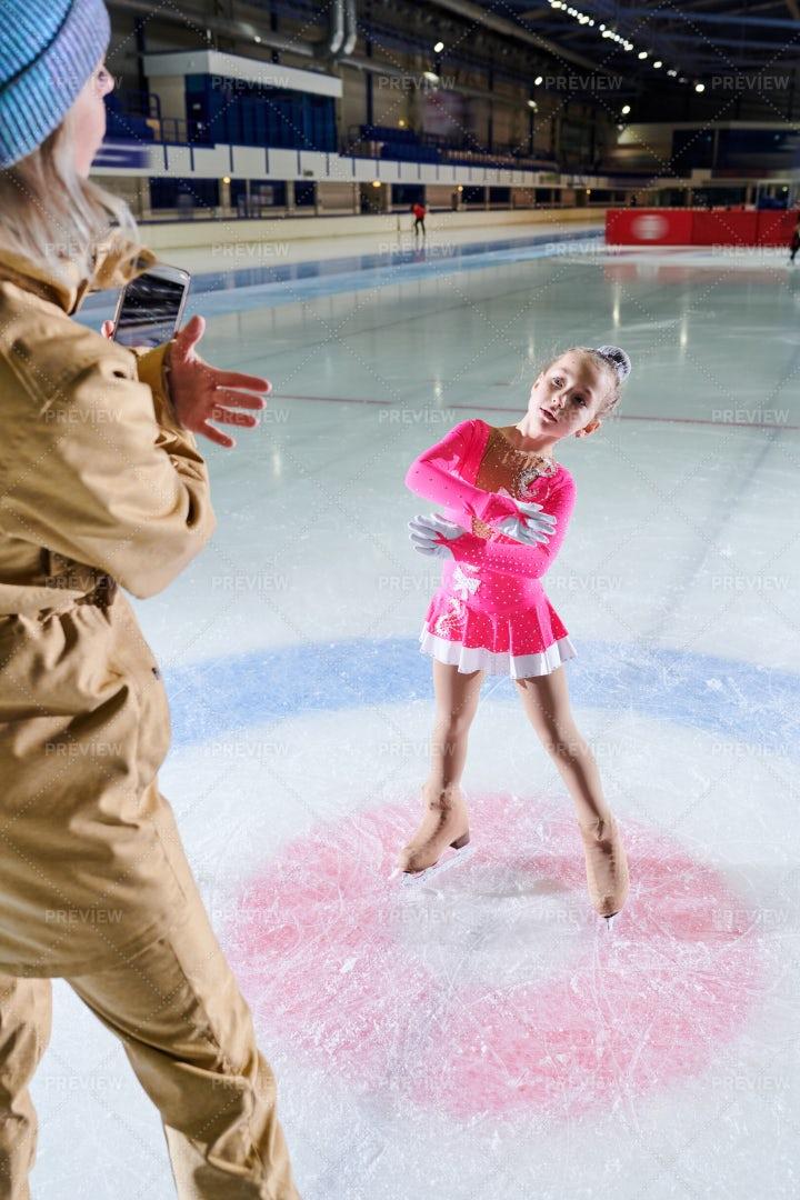 Little Figure Skater Posing For...: Stock Photos