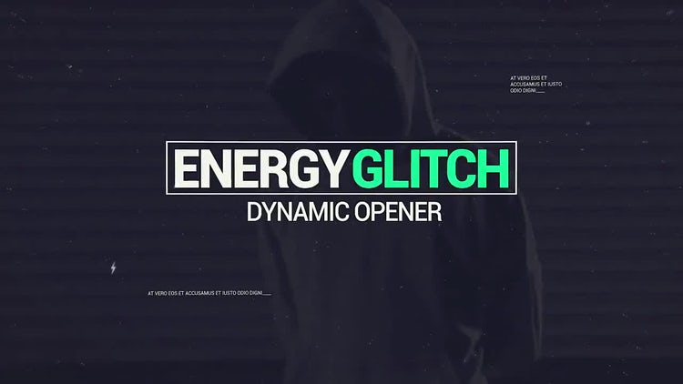 Modern Glitch Energy Opener: After Effects Templates