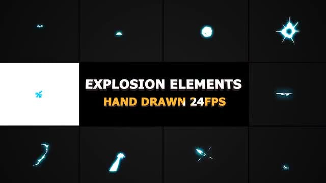 Energy Explosions And Transitions: Stock Motion Graphics