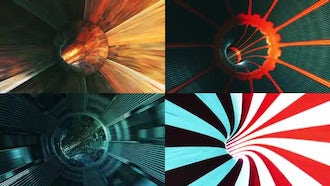 Sci-fi Tunnels: Motion Graphics