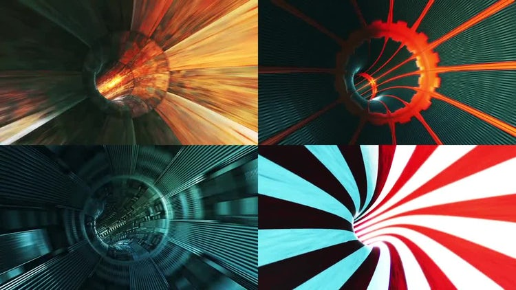 Sci-fi Tunnels: Stock Motion Graphics
