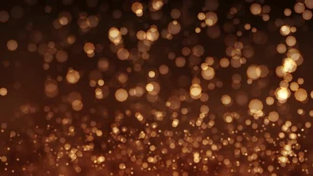 Golden background of Bokeh animation: Stock Motion Graphics
