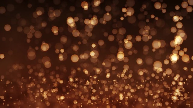 Golden background of Bokeh animation: Motion Graphics