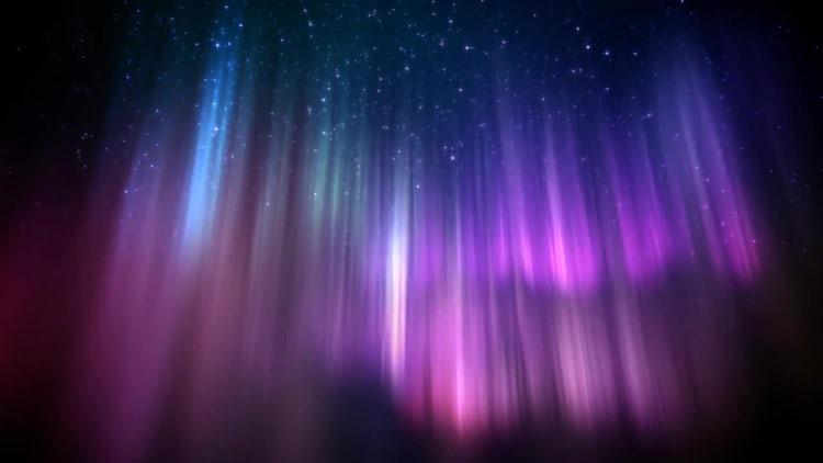 Polar Lights Loop: Motion Graphics