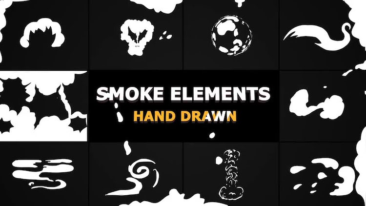 Cartoon Smoke Elements And Transitions: Motion Graphics