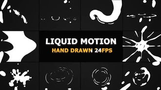 Liquid Motion Elements And Transitions: Motion Graphics