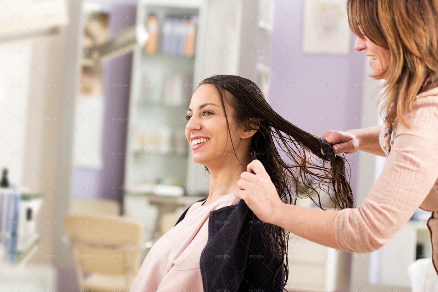 Woman In A Beauty Salon: Stock Photos