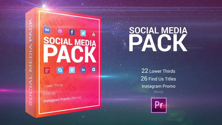 Social Media Pack: Premiere Pro Templates