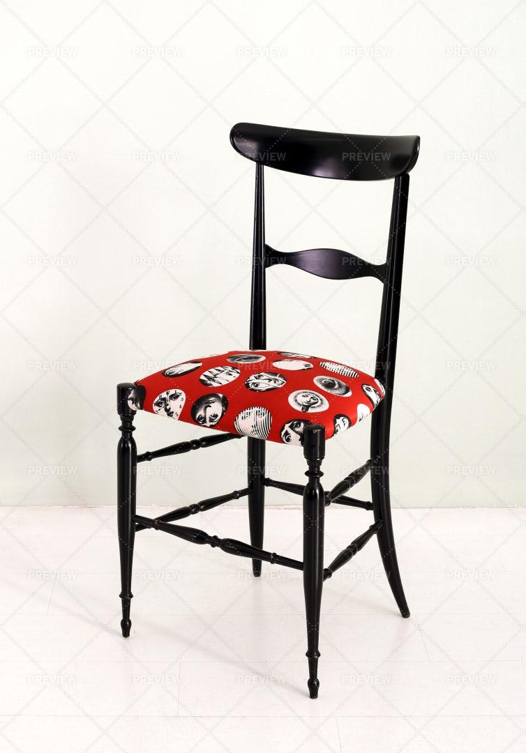 Elegant Fornasetti Chair: Stock Photos