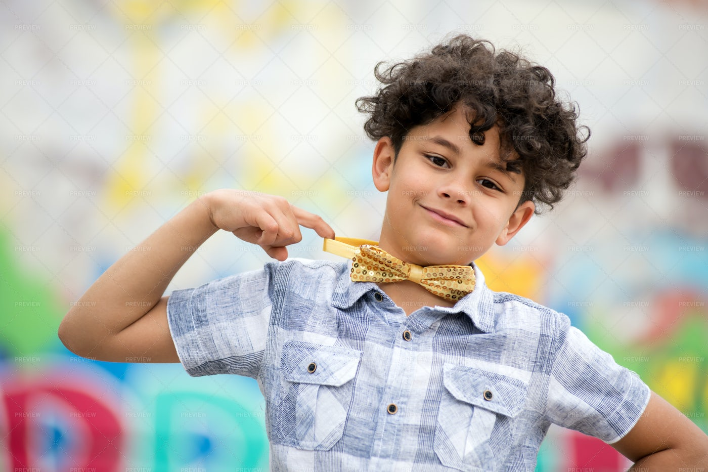 Boy With Bow Tie: Stock Photos