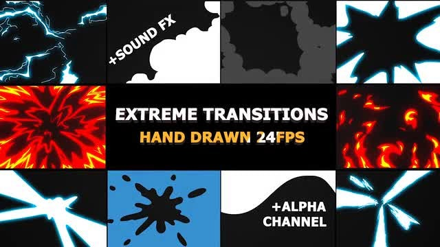 Flash FX Extreme Transitions : Stock Motion Graphics