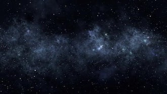 Space Flight Passing the Stars: Motion Graphics