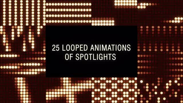 Flashing Spotlights: Stock Motion Graphics