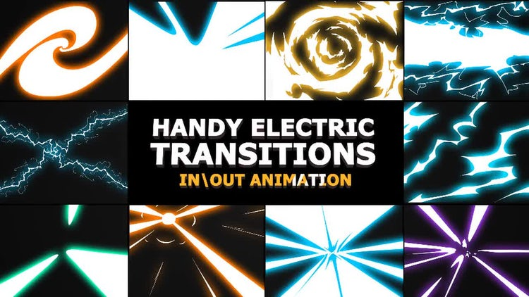 Handy Electric Transitions: Stock Motion Graphics