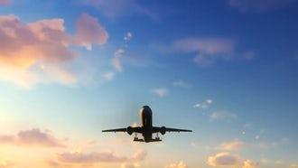 Flying Plane: Motion Graphics