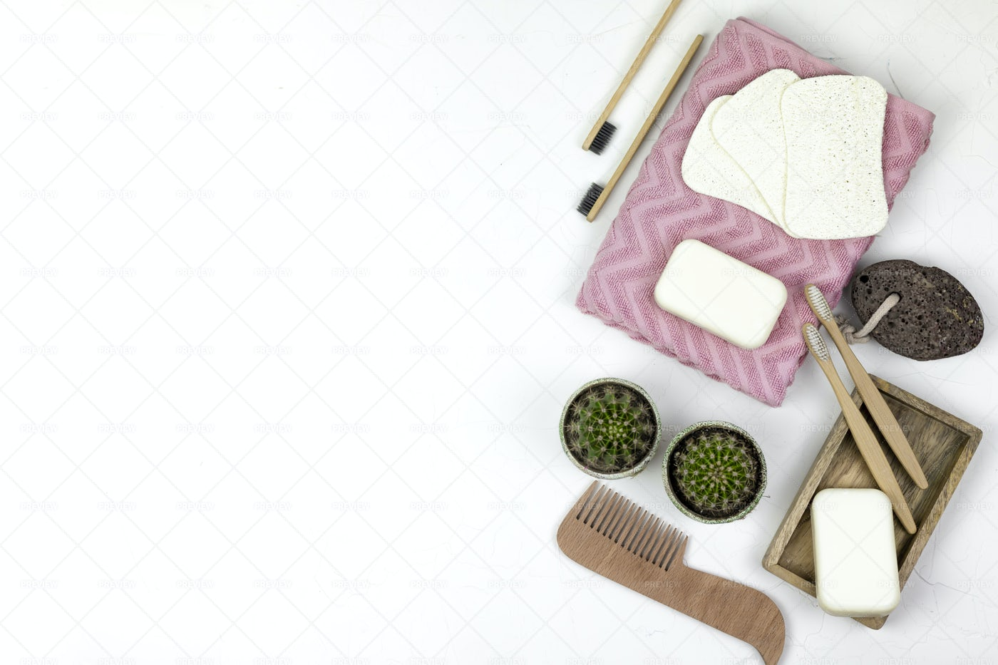 Sustainable Bathroom Products: Stock Photos