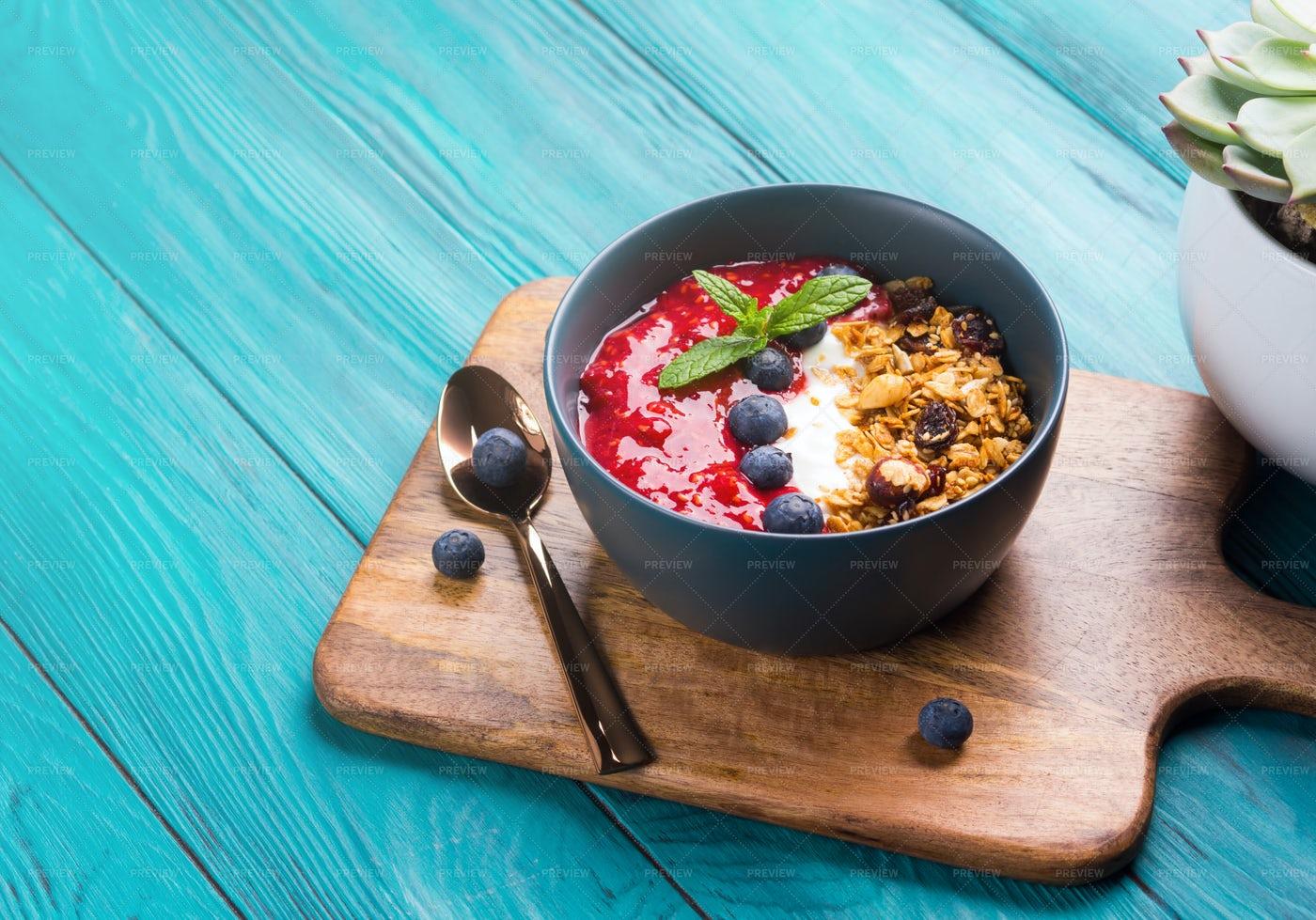 Fruit And Yogurt Bowl: Stock Photos