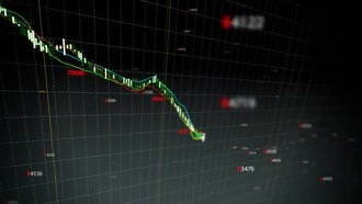 Falling Stock Index Loop: Motion Graphics